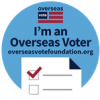I am a registered overseas US voter